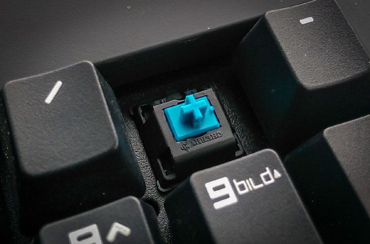 cherry mx blue mechanische tastatur