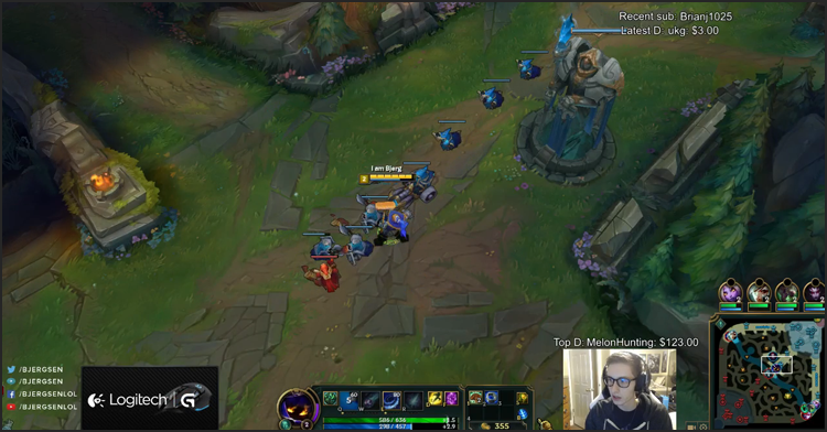 bjergsen league stream