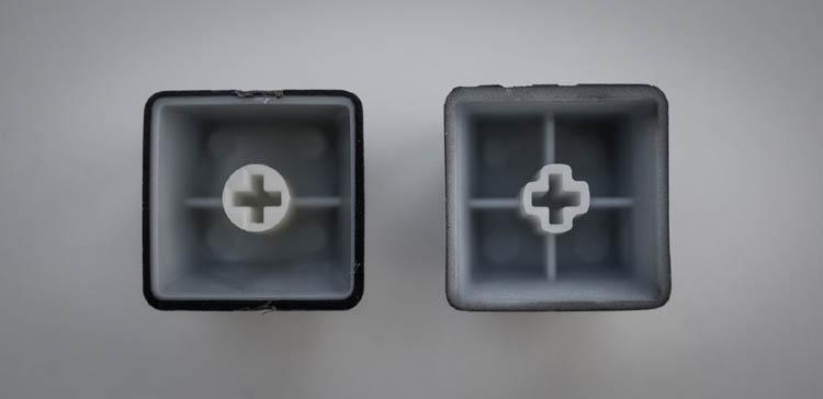 abs doubleshot keycap vergleich