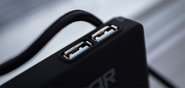 fnatic rush test usb port